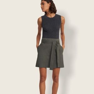 Theory Belted Mini-skirt in Good Linen